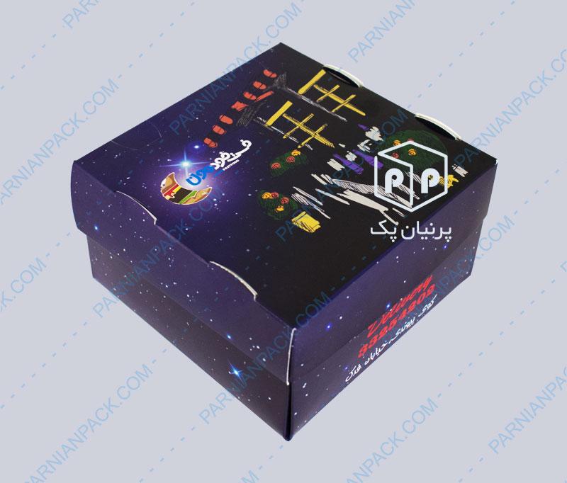 جعبه برگر بشقابی 2