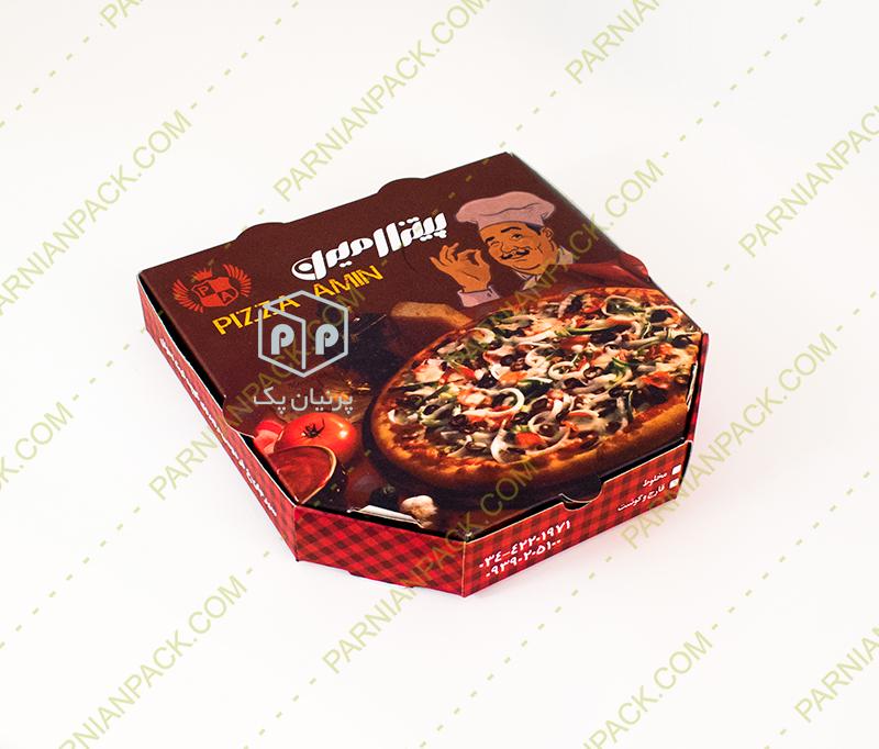 جعبه پیتزا شش ضلعی یک نفره
