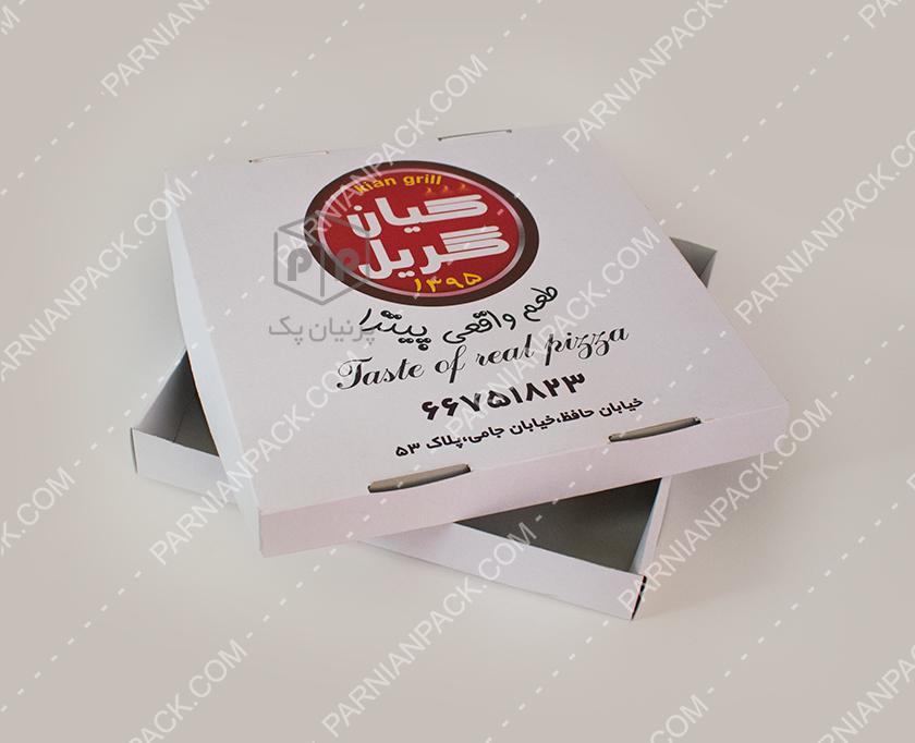 جعبه پیتزا خانواده دو تکه