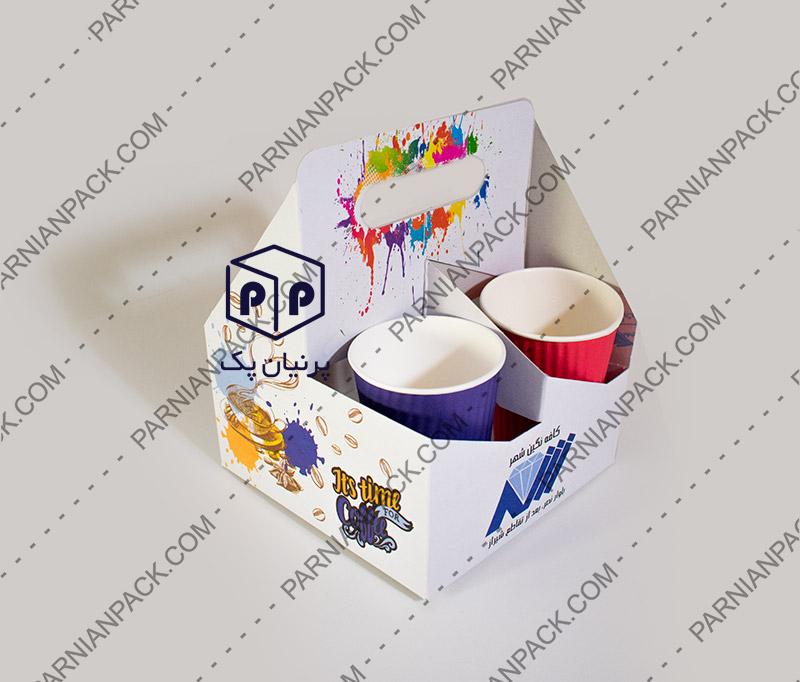 جعبه جالیوانی چهارتایی کاغذی