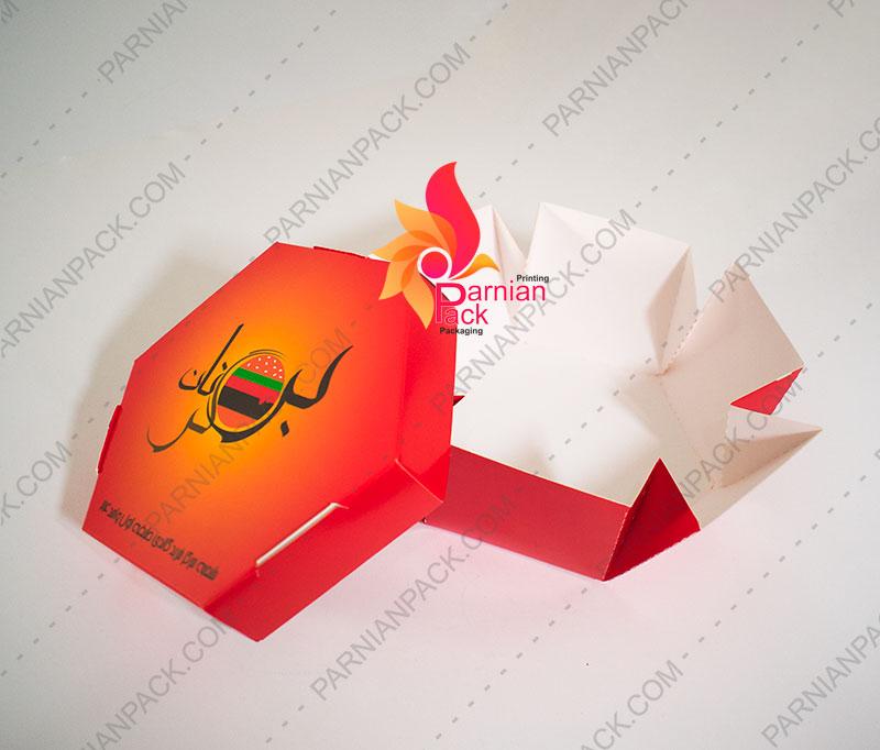 جعبه برگر شش ضلعی