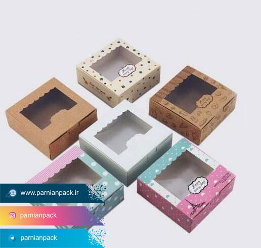جعبه دونات با جنس های مختلف