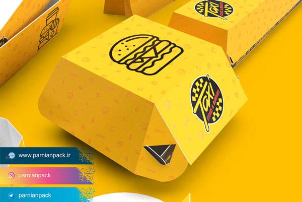 طرح جعبه برگر صدفی
