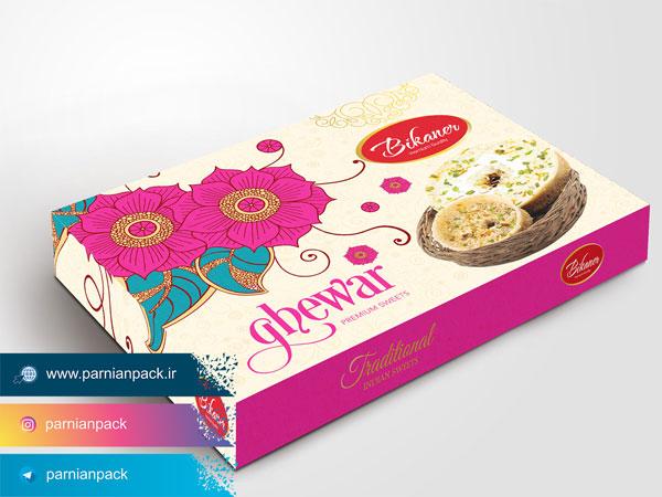جعبه شیرینی سفید